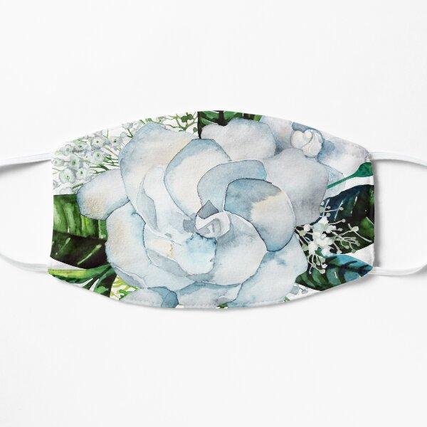 Watercolor gardenia and gypsophila vignette Mask