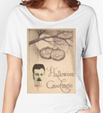 Just Hanging Around (Vintage Halloween Card) Women's Relaxed Fit T-Shirt