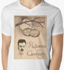 Just Hanging Around (Vintage Halloween Card) Men's V-Neck T-Shirt