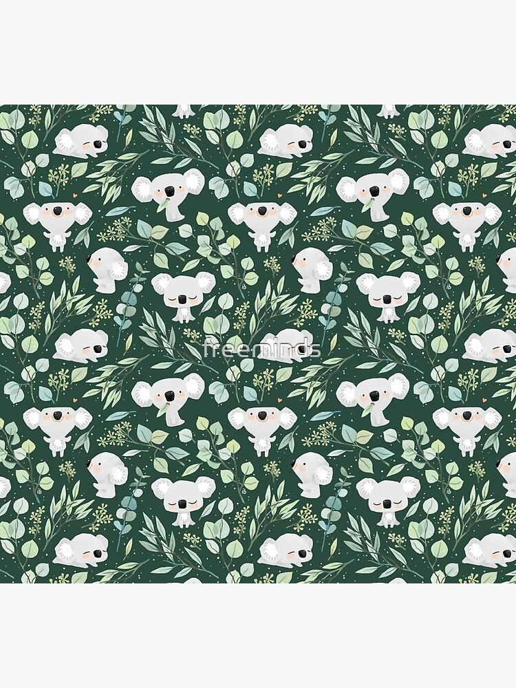 Koala and Eucalyptus Pattern by freeminds