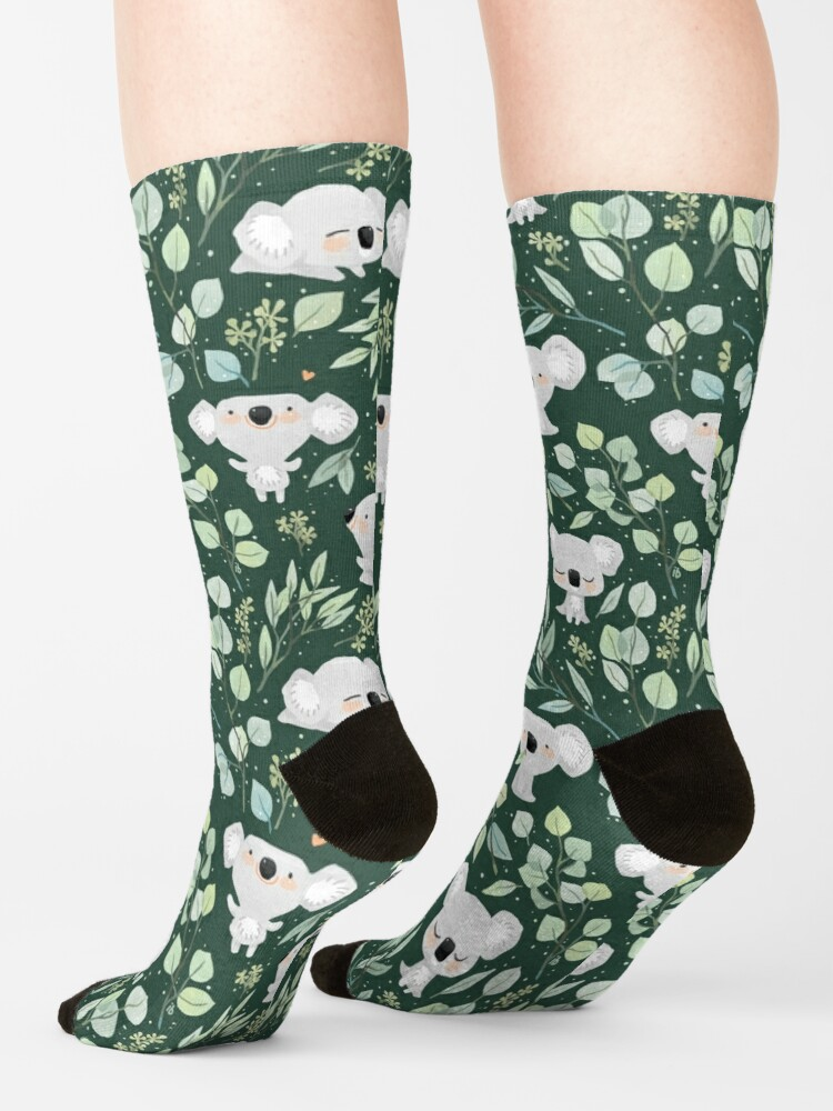 Alternate view of Koala and Eucalyptus Pattern Socks