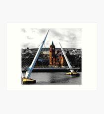 Peace Bridge and Guildhall Art Print