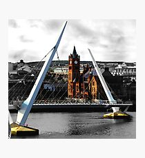 Peace Bridge and Guildhall Photographic Print