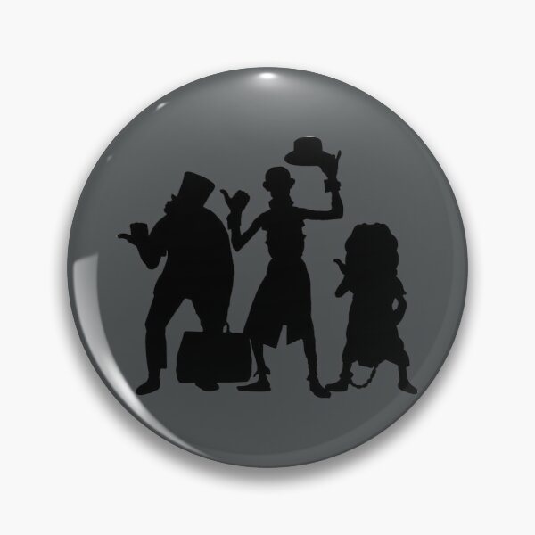 Hitchhiking Ghosts Silhouette Black Pin