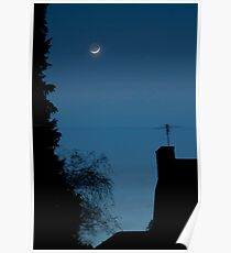Moon Setting on Aldarra Poster