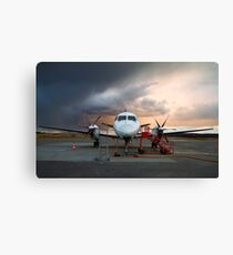 Parked aircraft. Canvas Print