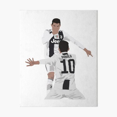 Ronaldo & Dybala  Art Board Print