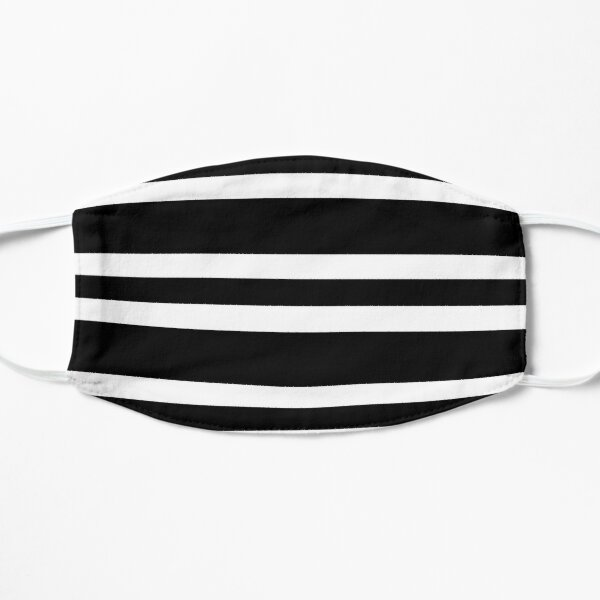 Black and white modern stripe pattern Mask