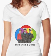 Cabin Pressure - Men with a Venn Women's Fitted V-Neck T-Shirt