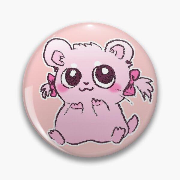 Hamster rose doux Bijou Badge