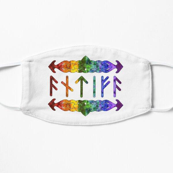 Antifa Runes - Rainbow Flat Mask