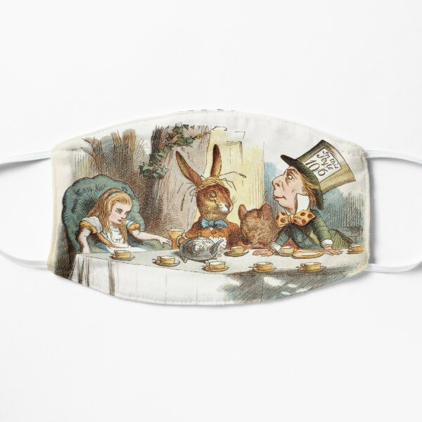 Alice In Wonderland - Tea Party - You're Entirely Bonkers - Quote  Flat Mask