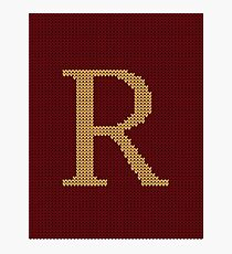 Weasley Sweater Letter R Photographic Print