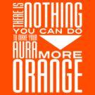 Orange Aura in White by Ashton Bancroft