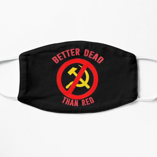 Better Dead Than Red Cold War Anti Communist Slogan Hammer and Sickle Russia Mask
