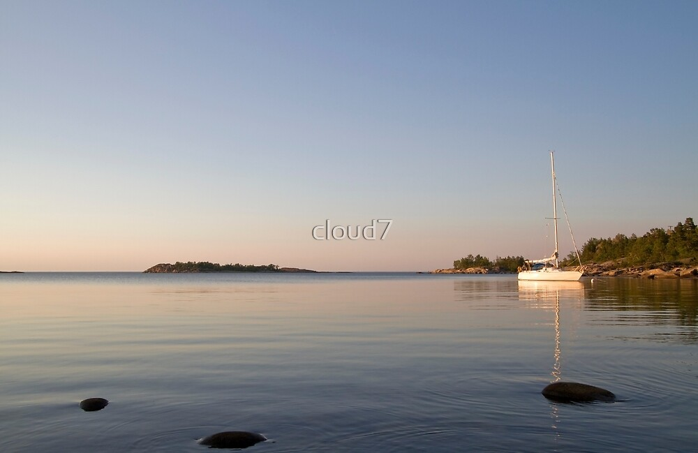 At anchor on a summer night. by cloud7