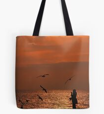 Bird Meets Birds Tote Bag
