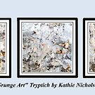 Grunge Art Tryptich by Kathie Nichols