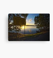 Swimmers to the Left / Sailcraft to the Right Canvas Print