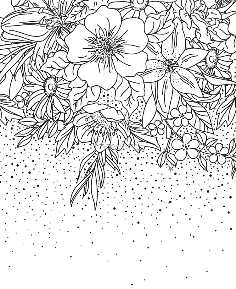 Cute Black White Floral Doodles And Confetti Design Ipad Case Skin By Inovarts Redbubble
