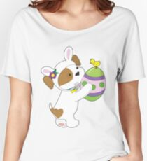 Cute Puppy Easter Egg Women's Relaxed Fit T-Shirt