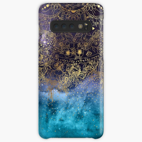 Gold floral mandala and confetti image Samsung Galaxy Snap Case