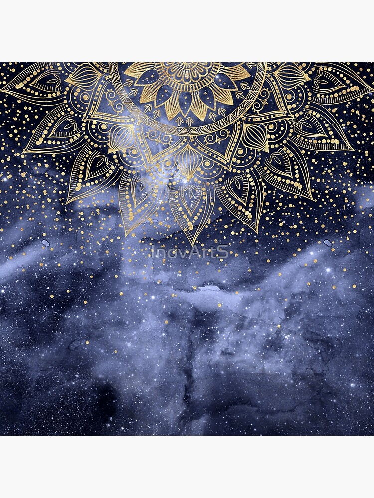 whimsical gold mandala confetti design by InovArtS
