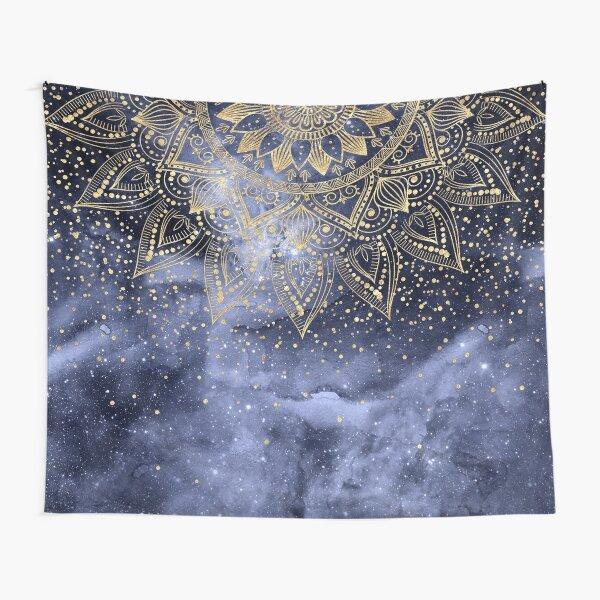 whimsical gold mandala confetti design Tapestry