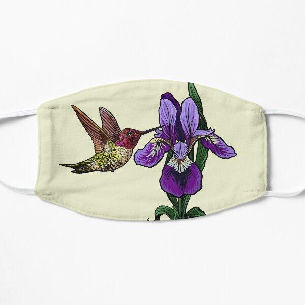 hummingbird and iris Flat Mask