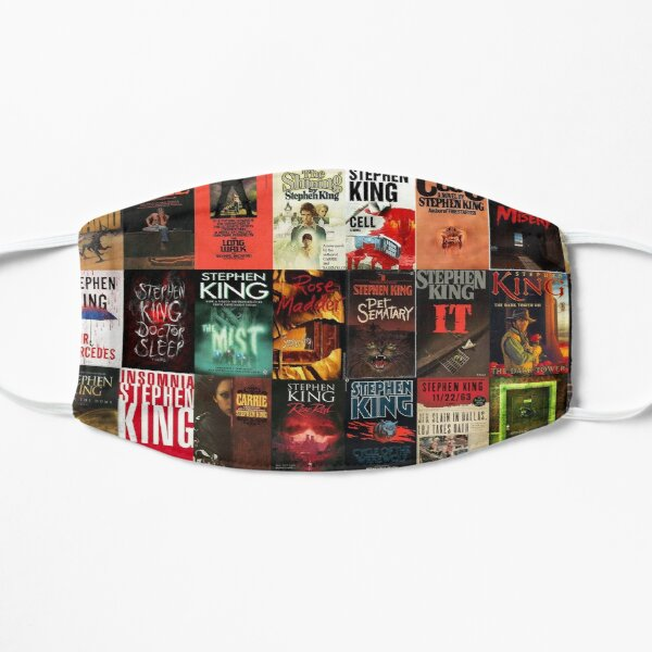 Stephen King Book Cover Collage Flat Mask
