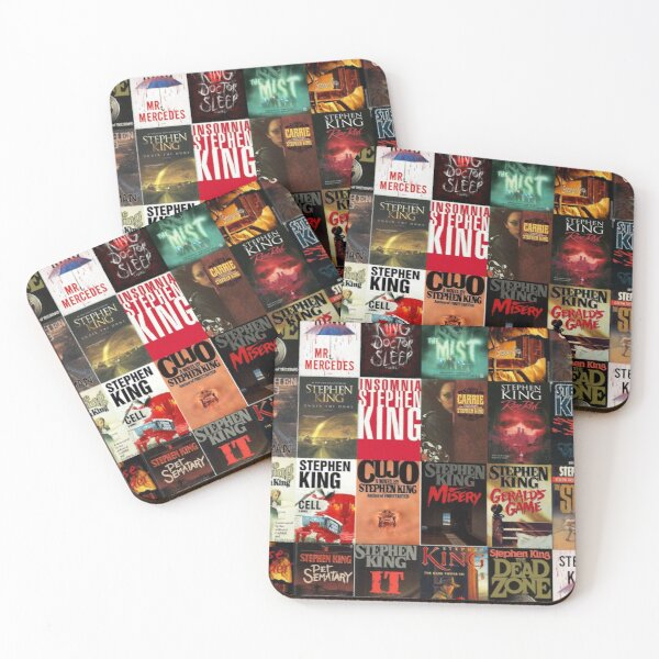 Stephen King Book Cover Collage Coasters (Set of 4)