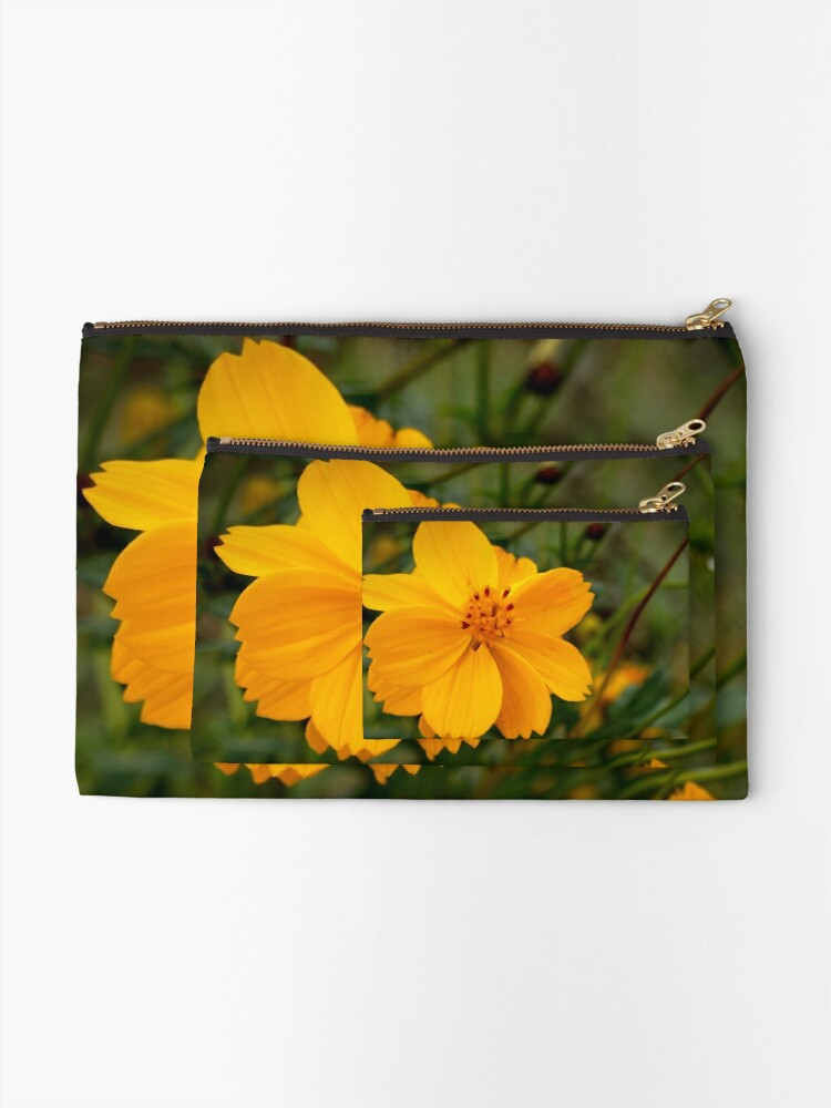 Alternate view of Golden Coreopsis Zipper Pouch