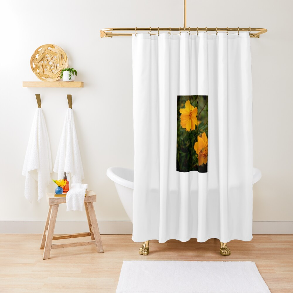Golden Coreopsis Shower Curtain