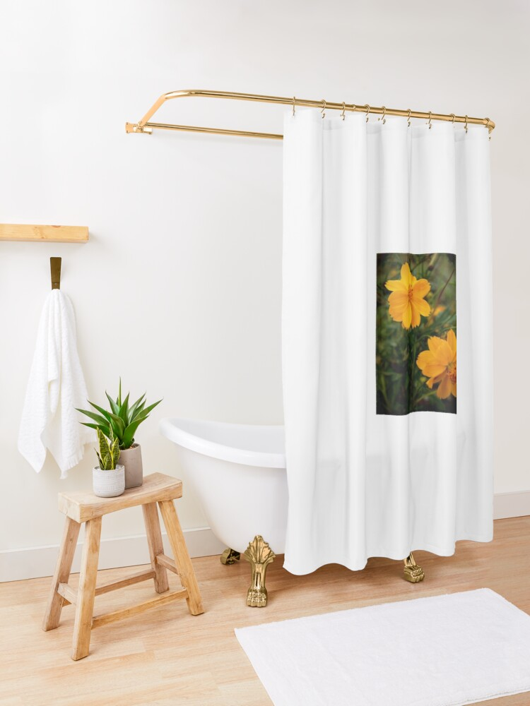 Alternate view of Golden Coreopsis Shower Curtain