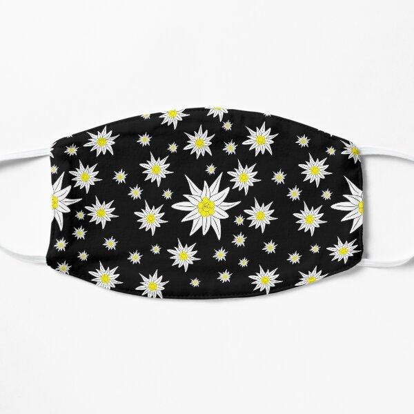 Edelweiss Pattern on Black Flat Mask