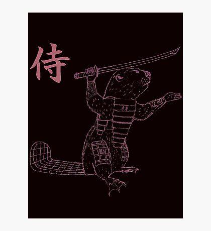 Samurai Beaver Photographic Print