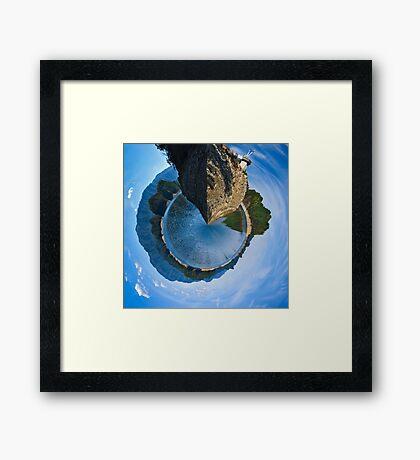 Tiny Planet Version of South Holston Lake Framed Print