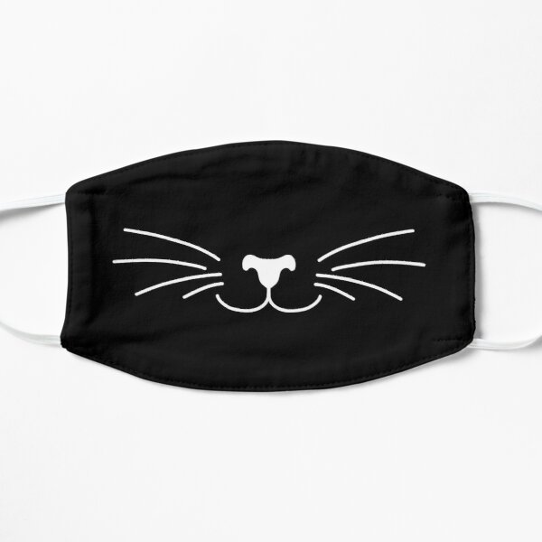 Cute cat Face Mask Flat Mask