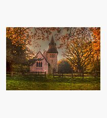 St Margaret Wychling In The Autumn Photographic Print
