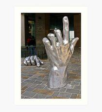 Hopoate Finger Must Stay Art Print