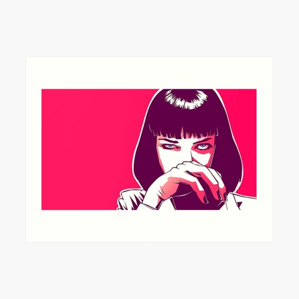 Mia Wallace Pulp Fiction Art Print