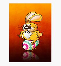 Bunny Sitting on an Easter Egg Photographic Print