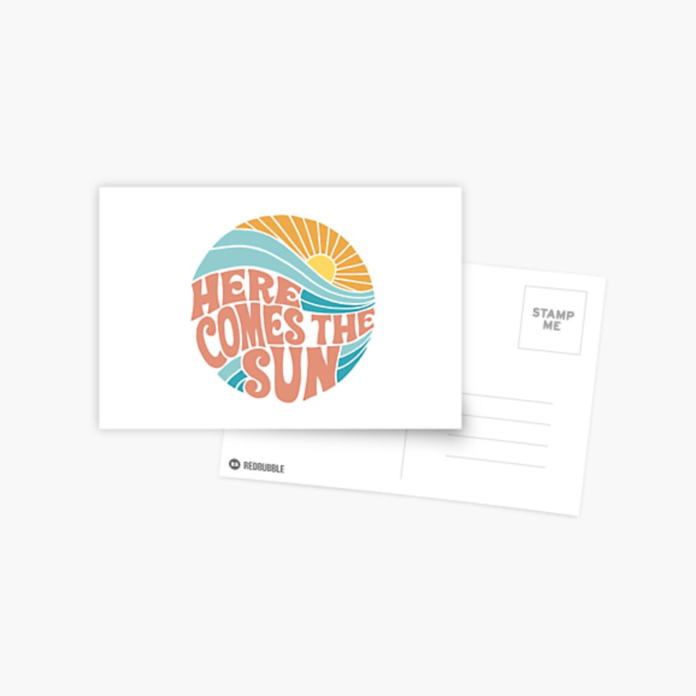 Groovy Here Comes the Sun Postcard