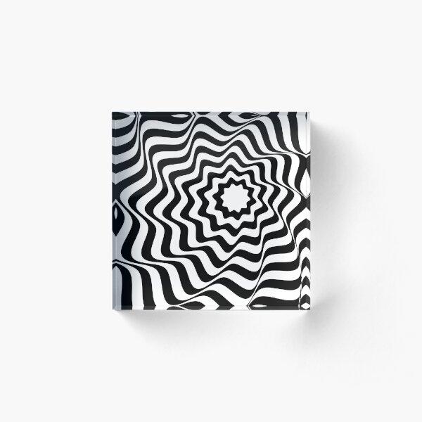 Waves Acrylic Block