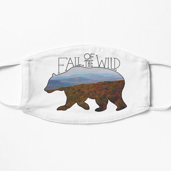 Fall of the Wild Autumn Mountain Wilderness Landscape Bear Silhouette  Flat Mask