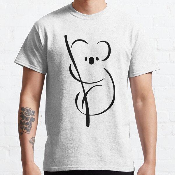 Koala | Diseño de tinta mínima Camiseta clásica