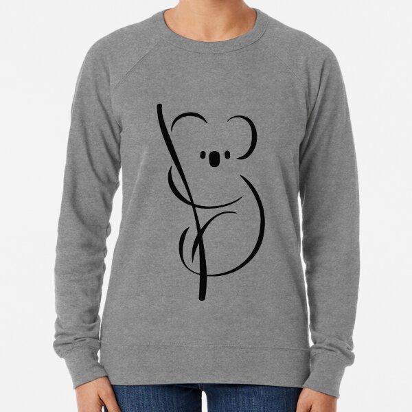 Koala | Minimal Ink Design Lightweight Sweatshirt