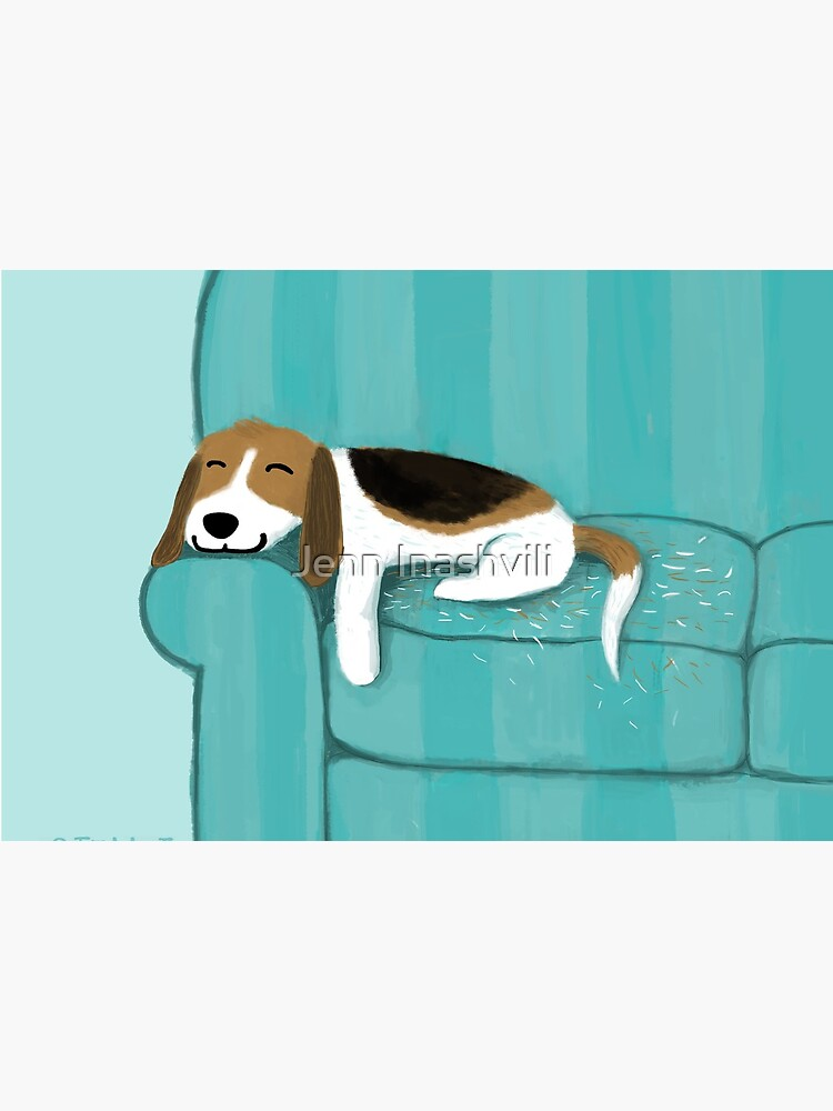 Happy Couch Dog   Cute Beagle by ShortCoffee