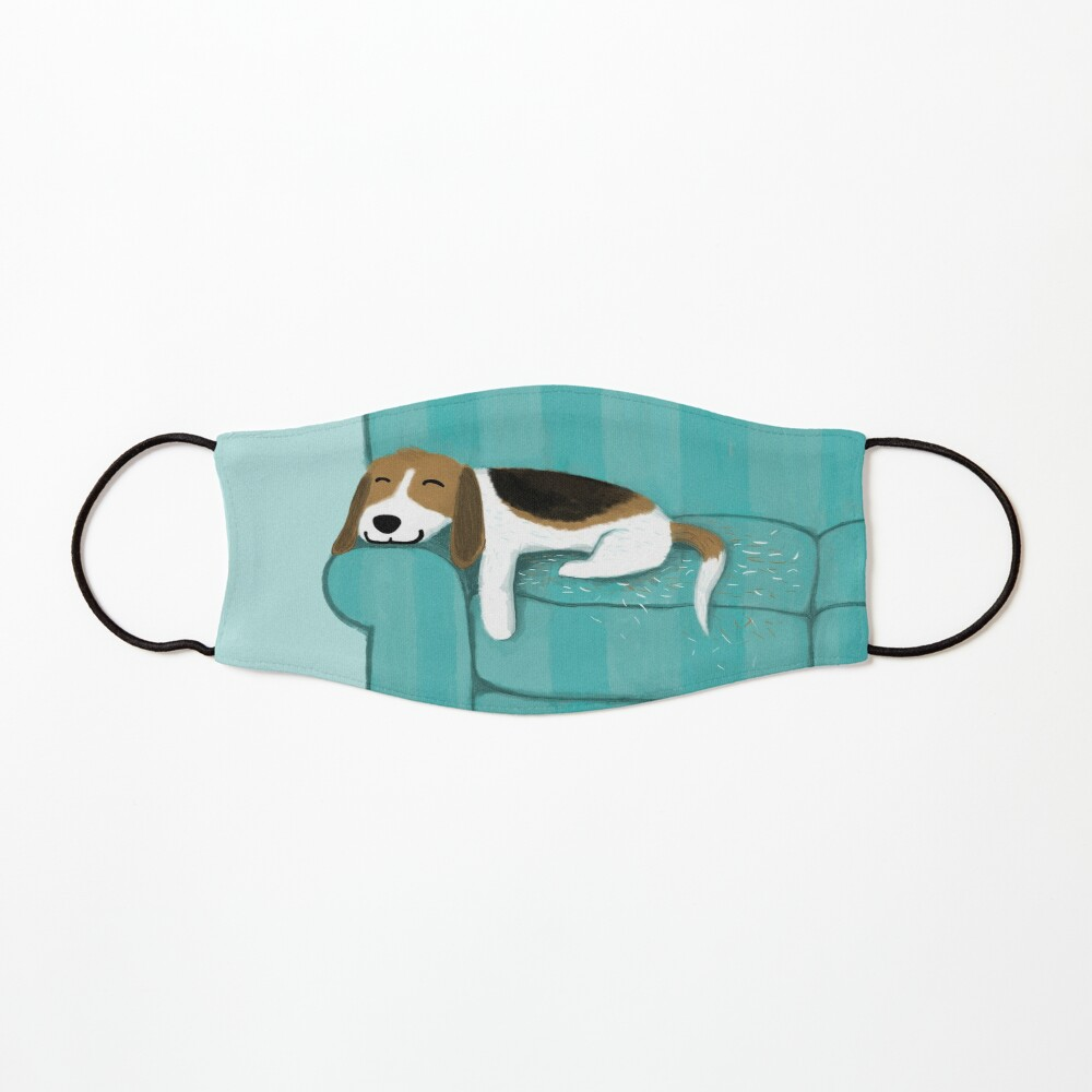 Happy Couch Dog   Cute Beagle Mask