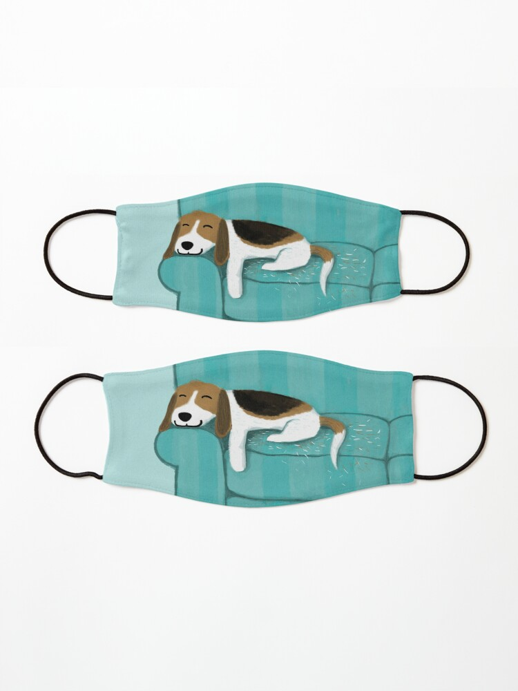 Alternate view of Happy Couch Dog   Cute Beagle Mask